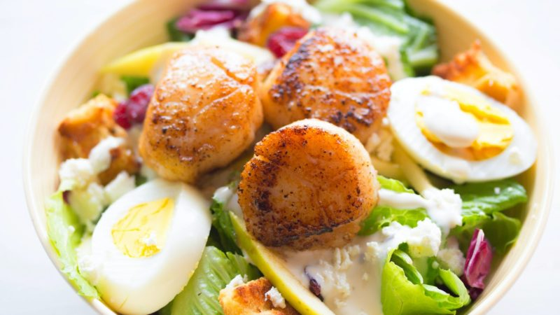 La salade de noix de saint jacques